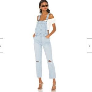 Paige Denim High Rise Sierra Ripped Overalls Jean